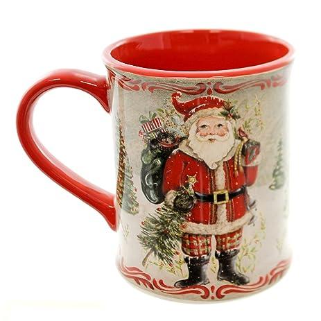 tabletop santa mug ceramic ceramic christmas coffee 2020140134 by demdaco - Christmas Coffee Cups