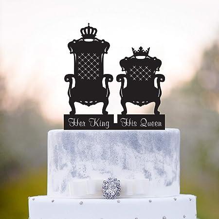 Decoración para tarta de reina y reina para tarta de boda con ...