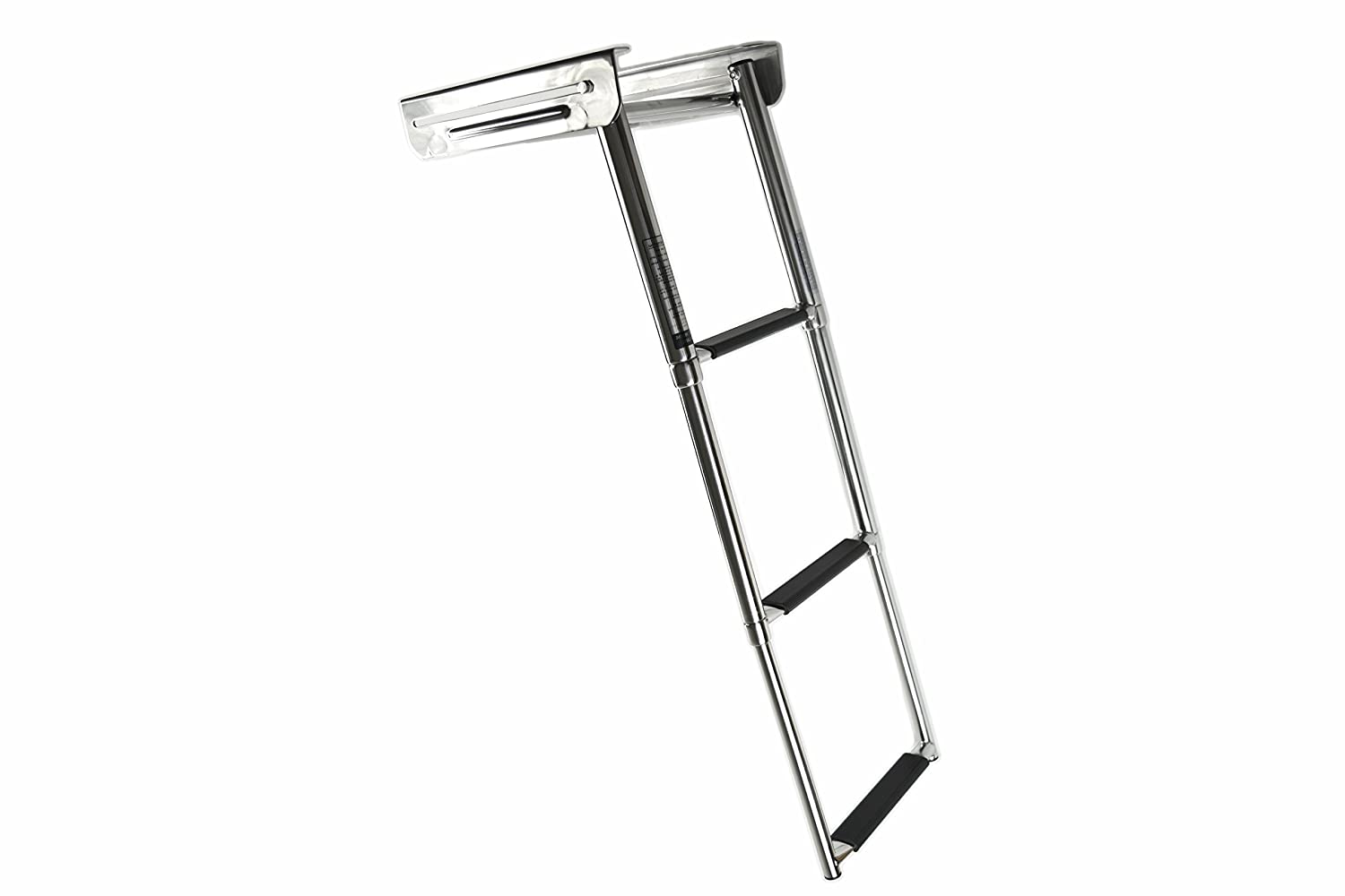 Marine City Stainless Steel 3-Step Under Platform Telescoping Ladder for Boat, Yacht