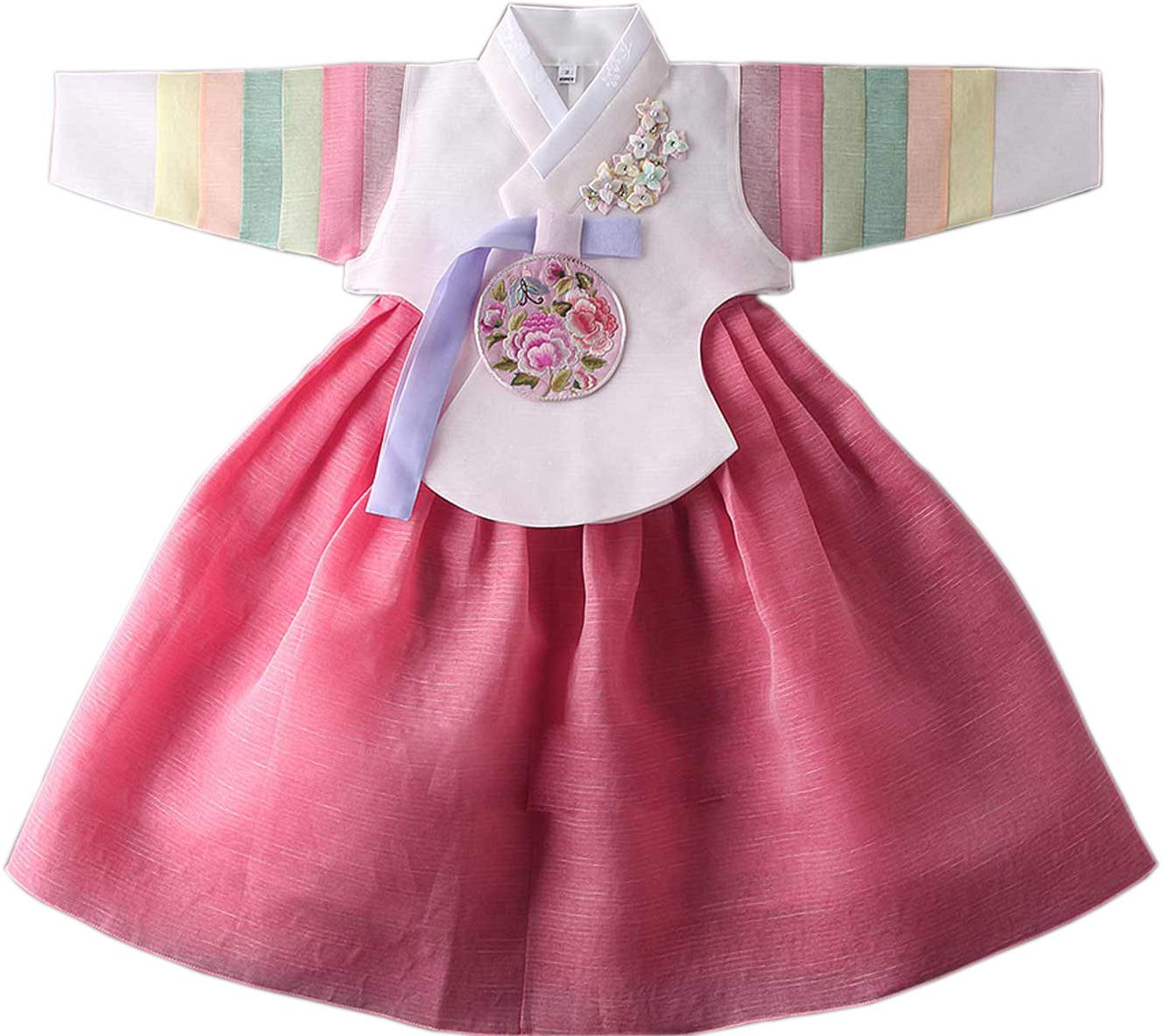 Korean Traditional Hanbok Babies Girls Costumes Dress Birthday Party DOLBOK 1-15 Ages yjg101 (1 Age)