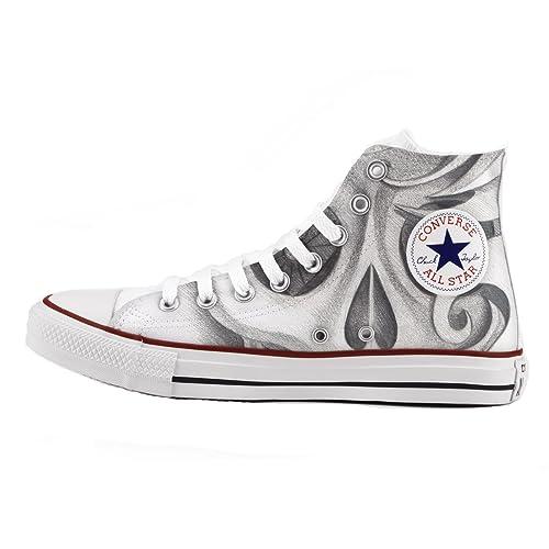 c7d6c710f Converse Personalizados e impresos - zapatos de artesanía - Drawn Skull   Amazon.es  Zapatos y complementos