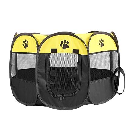 Carpa plegable rápida octogonal mascotas jaula plegable portátil ...