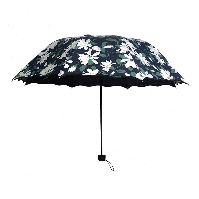 Women's Umbrella UV Proof Sunshade Umbrellas Light Anti Black Coating Female Rain Sun Umbrella