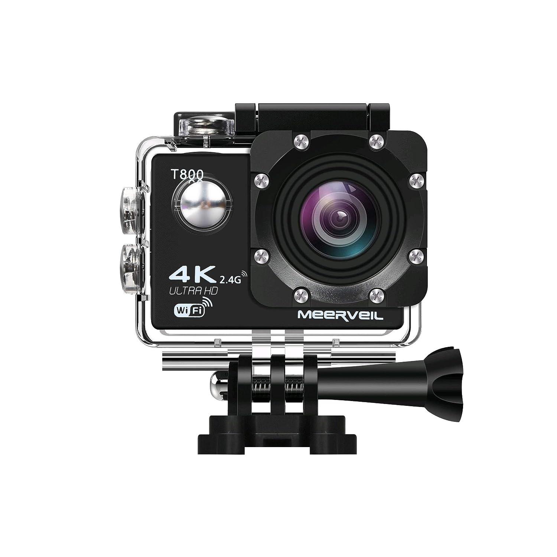 meerveil 4 KカメラアクションカメラWiFi防水スポーツカメラwithリモートコントロール170度広角レンズ、Sony CMOS sensor- 2個1050 mAhバッテリ、フルアクセサリーキット   B071GL2X65