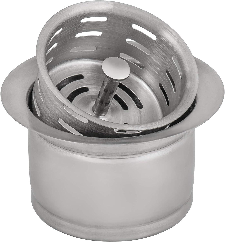 Ruvati Deep Garbage Disposal Flange with Basket Strainer for Kitchen Sinks - Stainless Steel - RVA1049ST