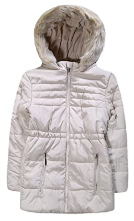 fc8238b17 JollyRascals Girls New Coat Kids Quilted Padded Fur Hooded Puffa ...
