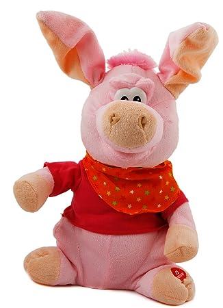 Peluche Cerdo beatle rockendes cerdo Voz y Movimiento 30cm