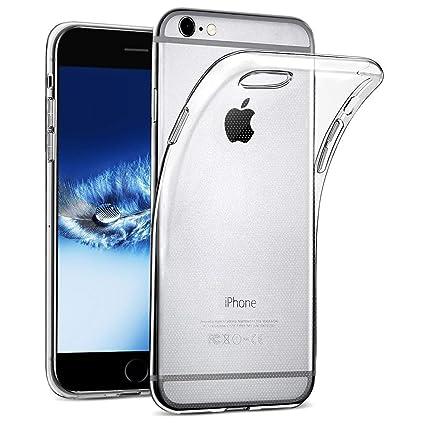 wsiiroon Hülle kompatibel iPhone 6 6S, Handyhülle kompatibel iPhone 6 6S [Liquid Crystal] Soft Flex Silikon Transparent Durch