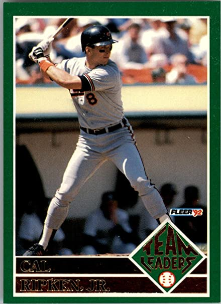 28085876c2 1992 Fleer Team Leaders #17 Cal Ripken - NM-MT at Amazon's Sports  Collectibles Store