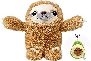 "Sloth Stuffed Animal - Sloth Plush Toy - 15"" Plush - Three Toed Sloth Toy - Super Soft"