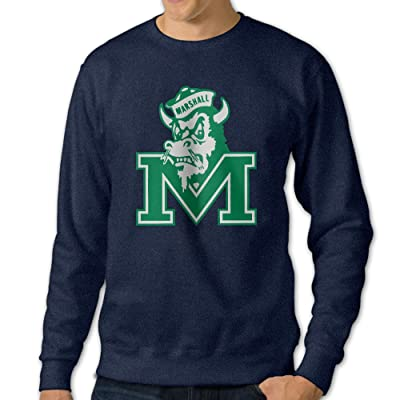 101Dog Marshall University Mens Pullover-sweaters Navy