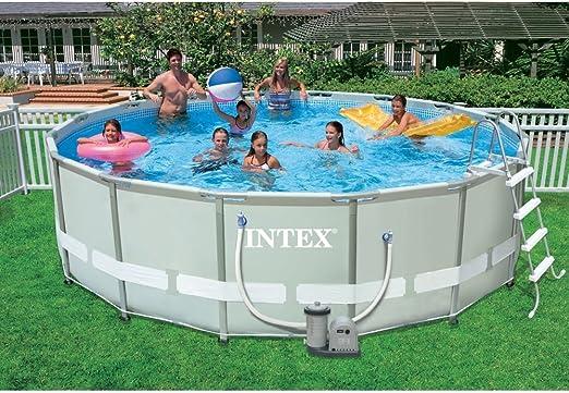INTEX 26322UK Ultra Frame Juego de Piscina, Gris/Azul, 16 pies x ...