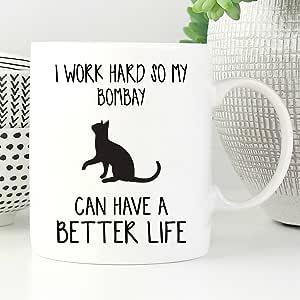 Alicert5II Bombay - Taza con diseño de Gato y Texto en inglés Bombay Cat Cat