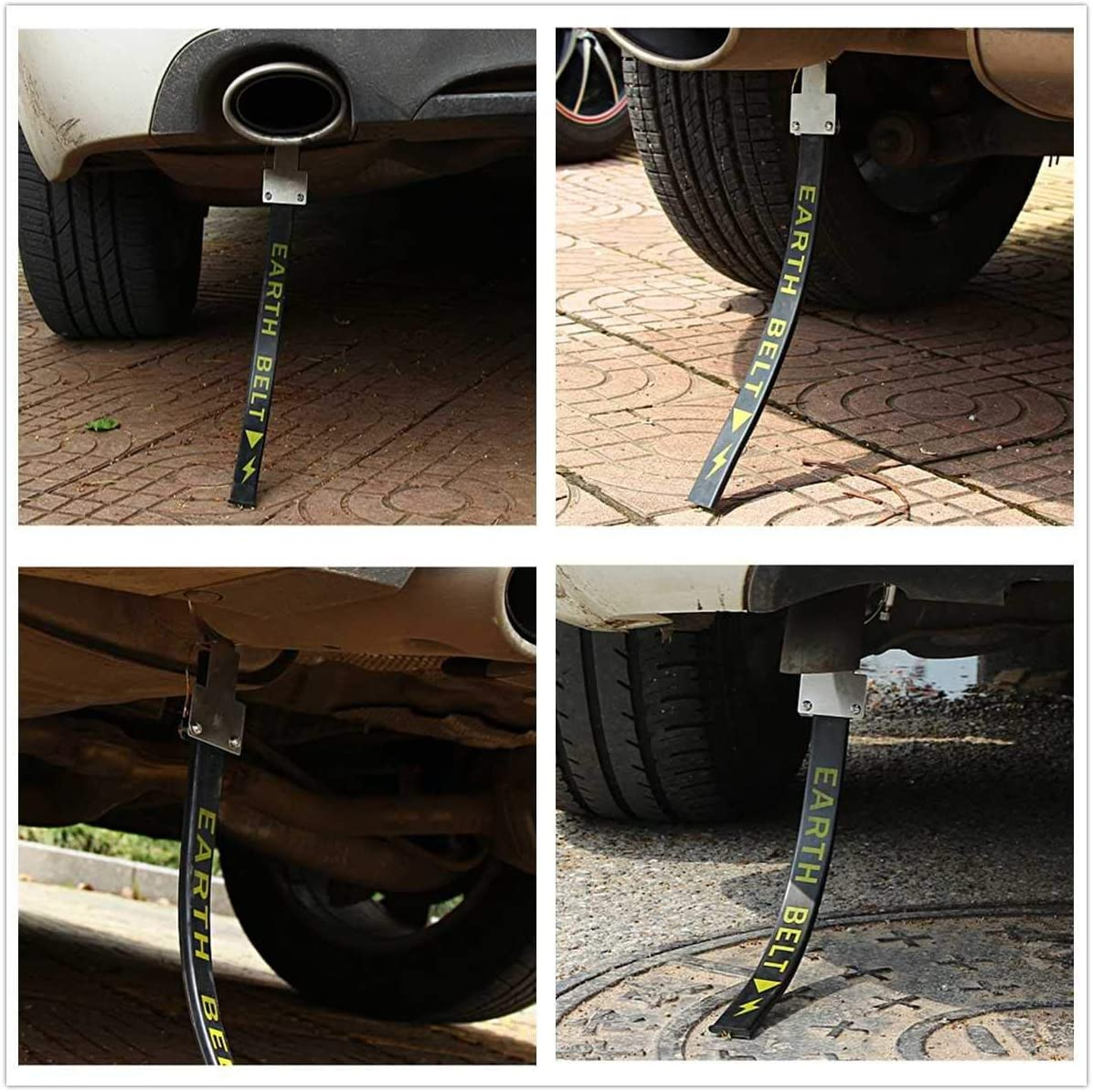 2Pcs Anti Static Belts Electrostatic Rubber Material Earth Belts for Car Vehicle SUV Safe Ground Wire Strap Safe Driving Car Accessories
