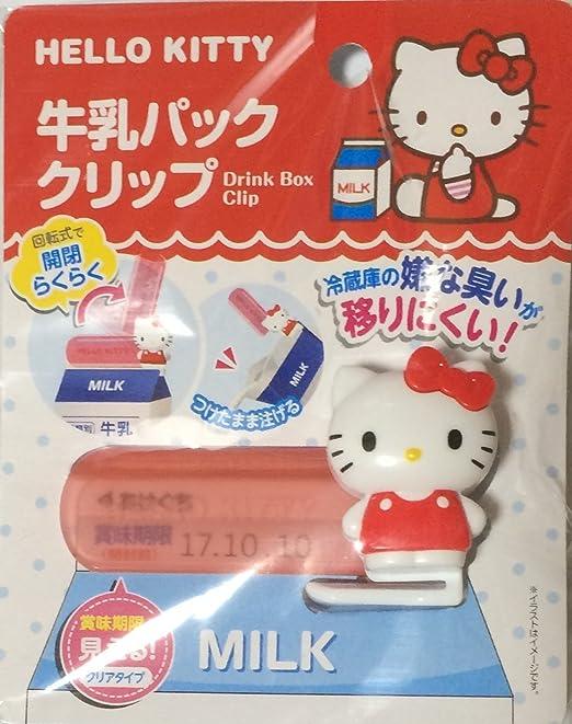 Hello Kitty cartón de leche Clip: Amazon.es: Hogar