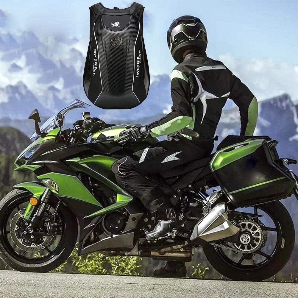 Carbon Fiber Motorbike Helmet Backpack Waterproof 30L Large Capacity humflour Motorradrucksack Hartschale Motorradrucksack Riding Laptop Bag for Travelling Camping Cycling Storage Bag