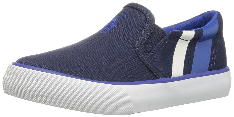 POLO RALPH LAUREN - Zapato azul de tejido, con insertos laterales ...