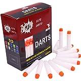 EKind 100pcs 7,2 cm schiuma freccette per pistola di Nerf N-strike serie Elite Blasters giocattolo (Bianco)