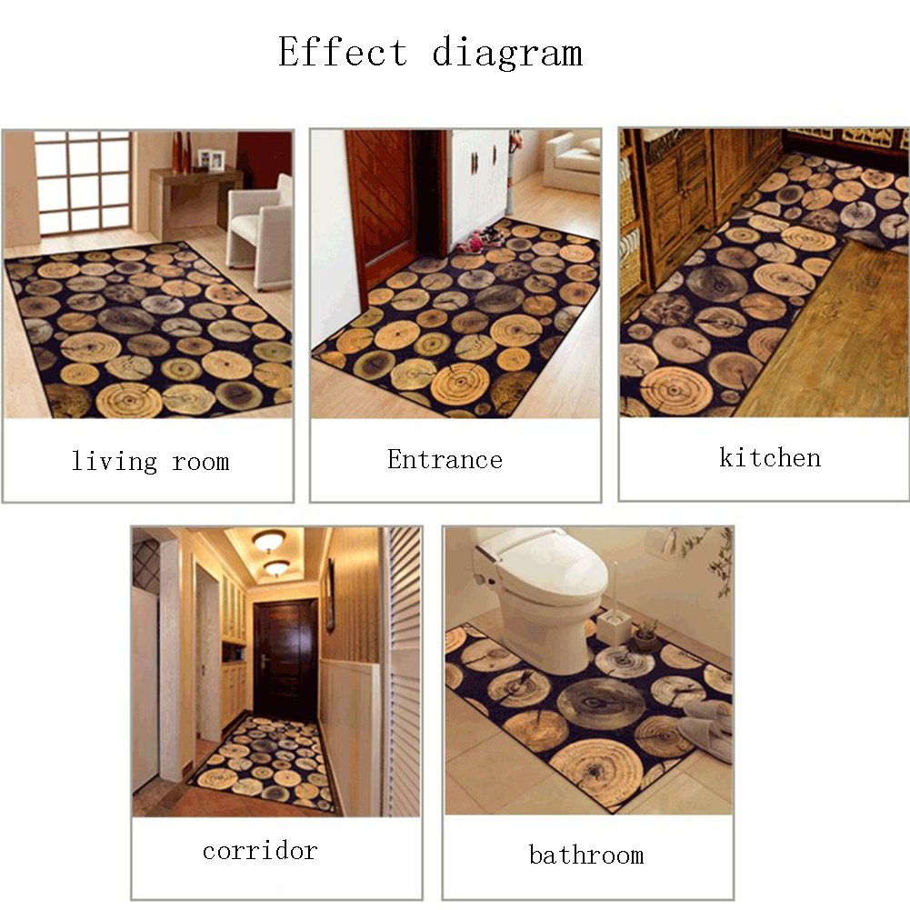 GHGMM Simple Europe And America Vintage Style Doorway Tea Table Sofa Kitchen Balcony Floor Mats,| Do Not Fade Super Absorbent Easy To Clean Non-Slip Carpet Footpads, Thickness 6Mm,40Cm60Cm by GHGMM (Image #6)