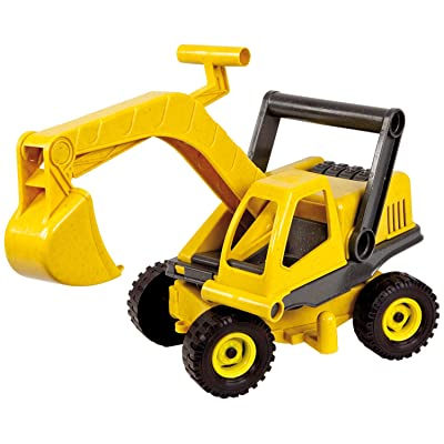 Lena Eco Active Toy Excavator Truck is a Eco Friendly BPA and Phthalates Free Biodegradable Green Toy Manufactured from Food Grade Resin and Wood: Toys & Games