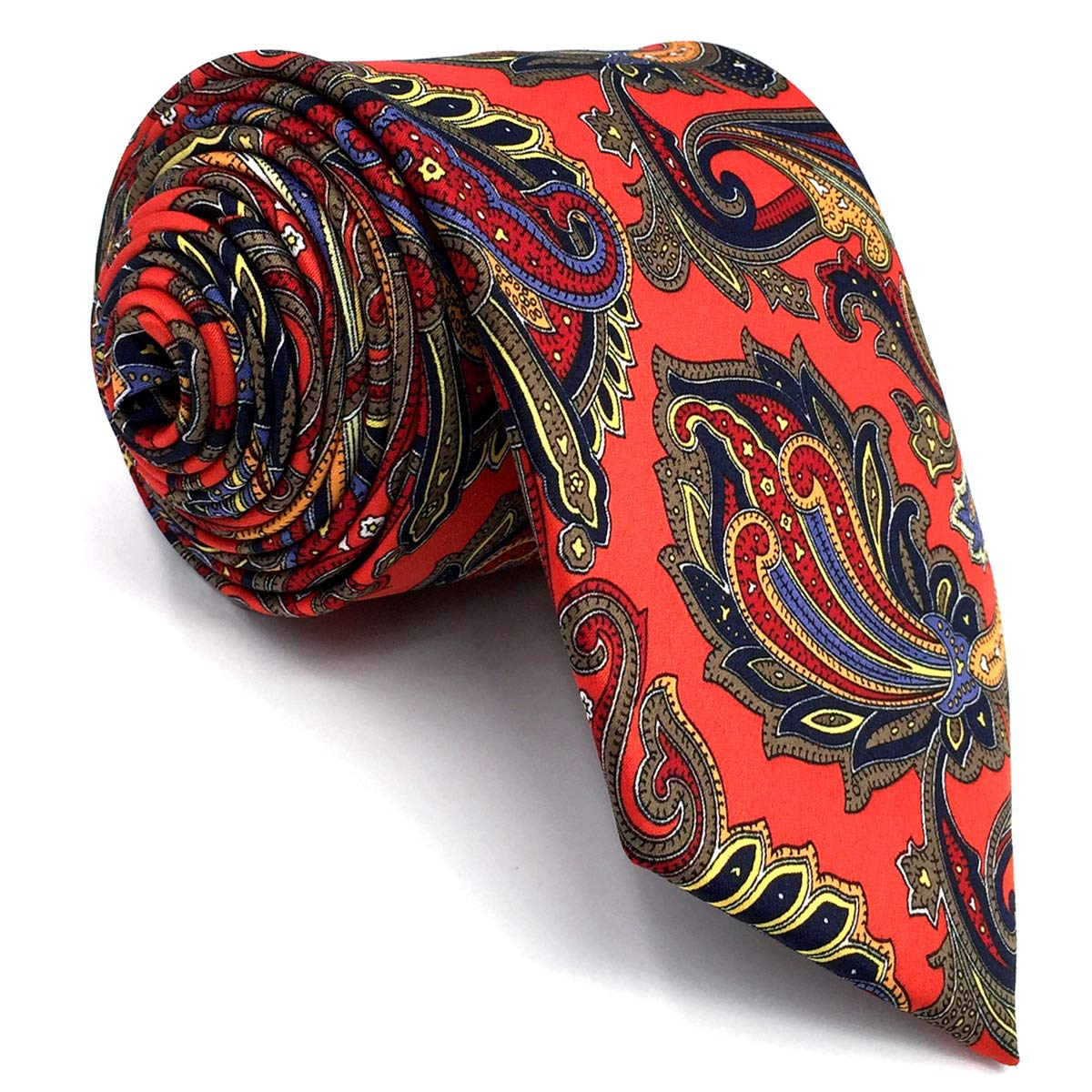 Shlax /& Wing Mens Acceossories Necktie Printed Ties Red Paisley Silk Brand New