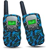 Joyfun Walkie Talkies for Kids T-388 Long Distance 2 Way with Flashlight Outdoor Camping & Hiking Gear - 1 Pair
