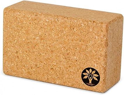 Yoloha Cork Yoga Block - Enhances Yoga Poses - Helps Improve Strength and Flexibility - Non Slip, Sustainable, Durable, Premium, Handmade, Moisture ...