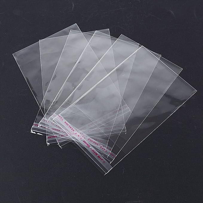 Bolsas de Celofán Transparente Plastico Pequeñas OPP con Cierre Autocierre Banda Autodhesiva para Caramelo Bombones Regalos de Boda (8 * 10cm)