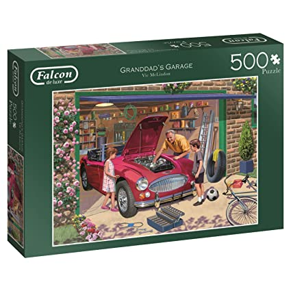 Amazon Com Jumbo 11209 Grandad S Garage Jigsaw Puzzle Toys Games