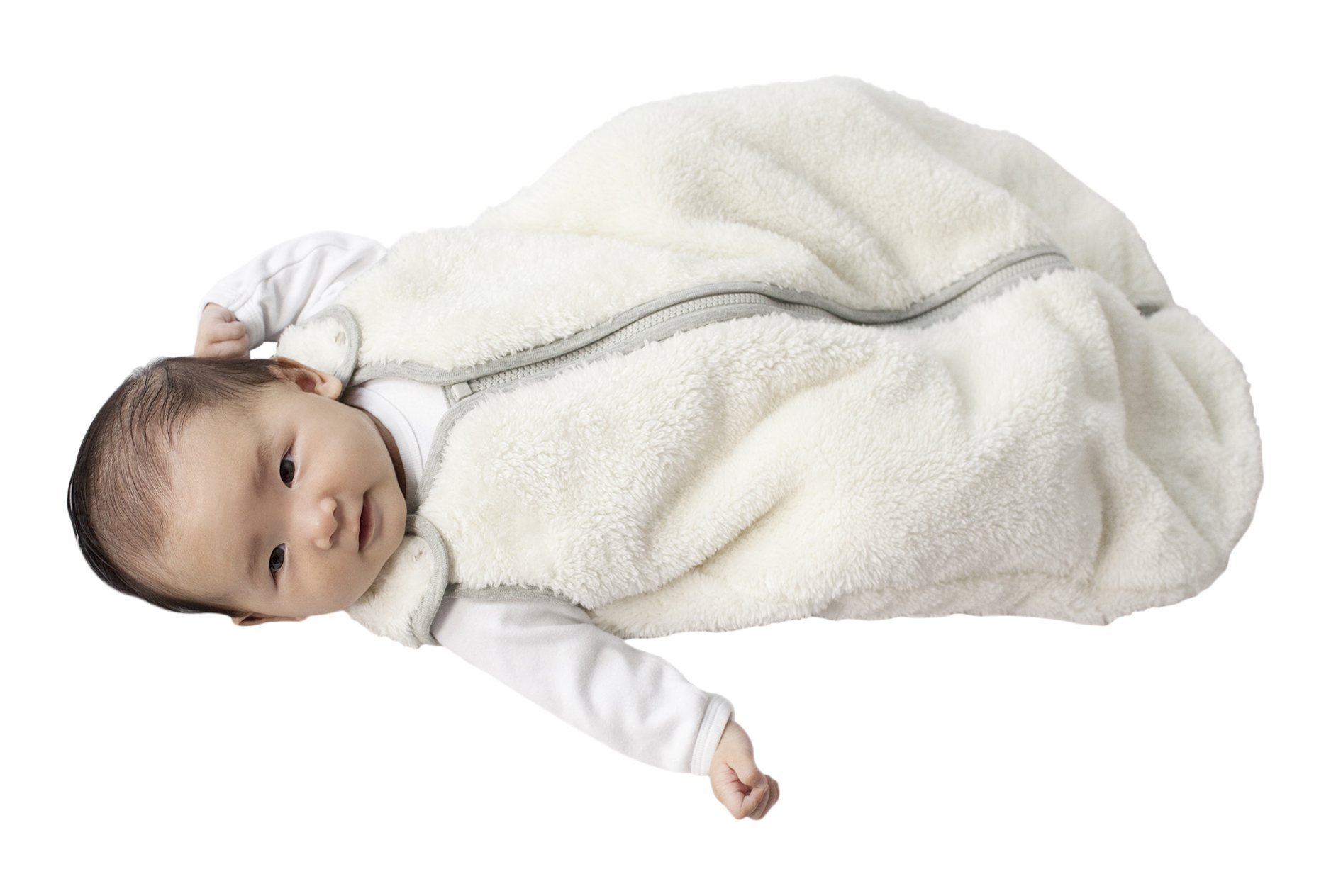 baby deedee Sleep Nest Teddy Baby Sleeping Bag, Ivory, Medium (6-18 Months) by baby deedee