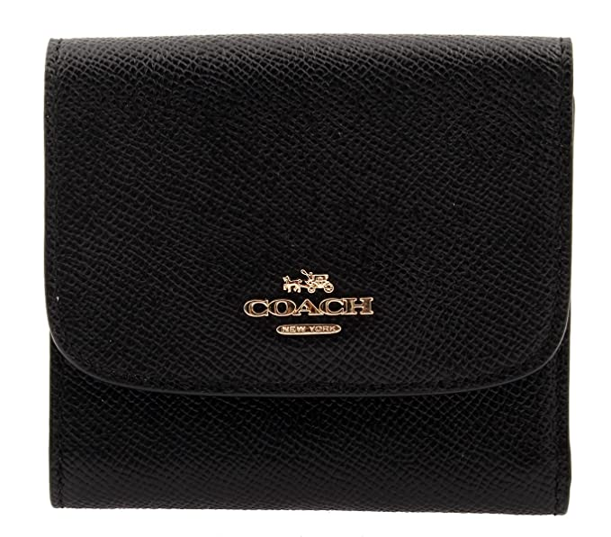 Coach Small Wallet In Crossgrain Leather F87588 Black At Amazon