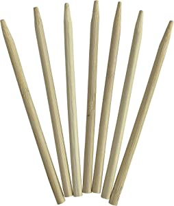 KingSeal Natural Bamboo Wood Candy Apple Skewers, Sticks, 5.5 Inch x 6.5mm Diameter, Blunt Point for Safety, Bulk Pack - 1000 Count