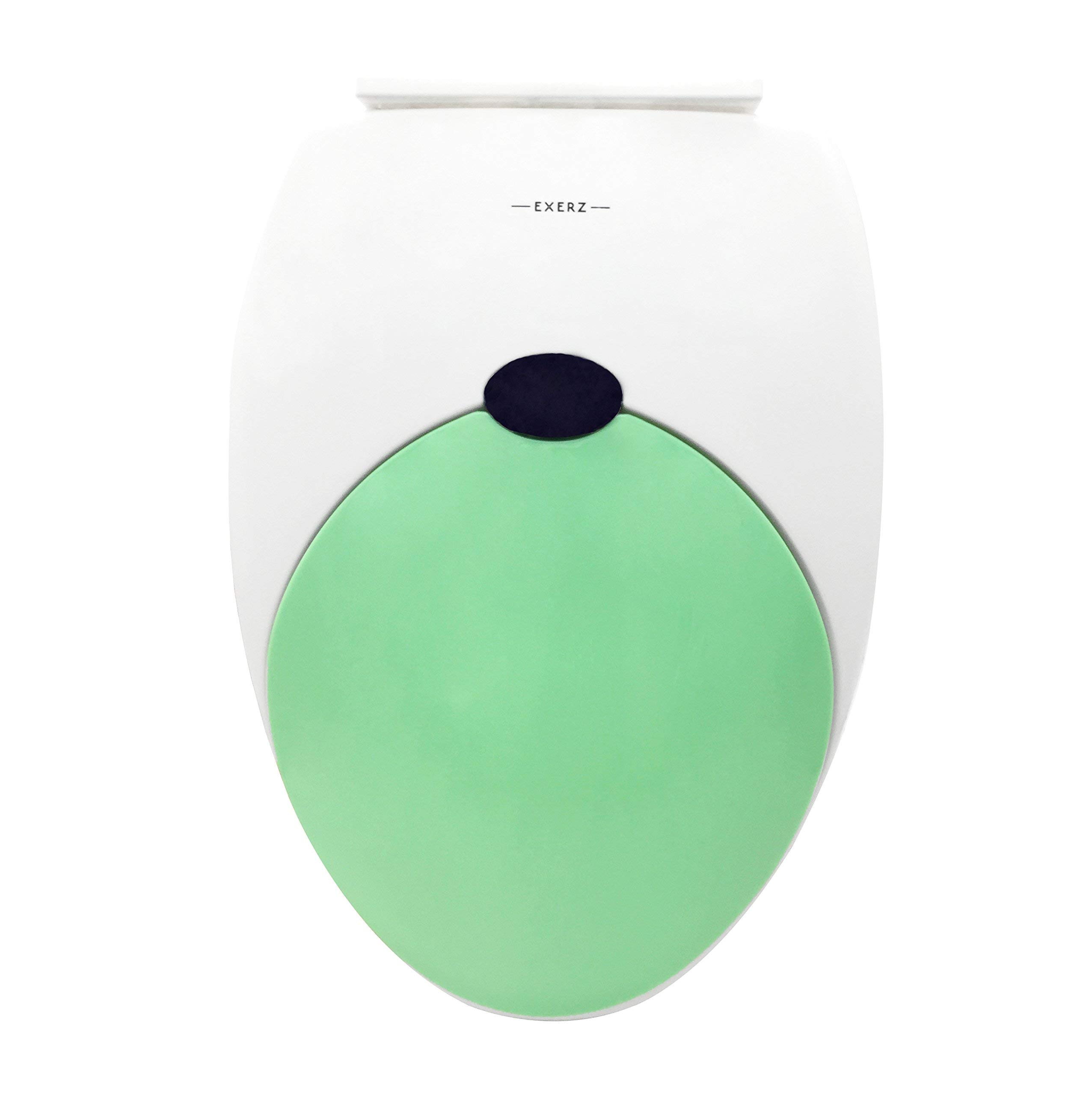 Exerz PP-052 18'' Family Toilet Seat with Built-in Child Seat Potty for Kids Adult/Stable Hinges/Easy to Mount/Bathroom Washroom Restroom (Green)