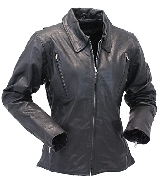 Amazon.com: Jamin cuero cuerpo largo chamarra de moto de la ...