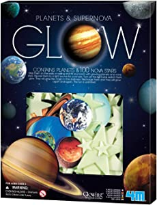 Toysmith 4M Glow In The Dark Planets & Supernova - Astronomy Space Stem Toys Gift Room Décor For Kids & Teens, Boys & Girls
