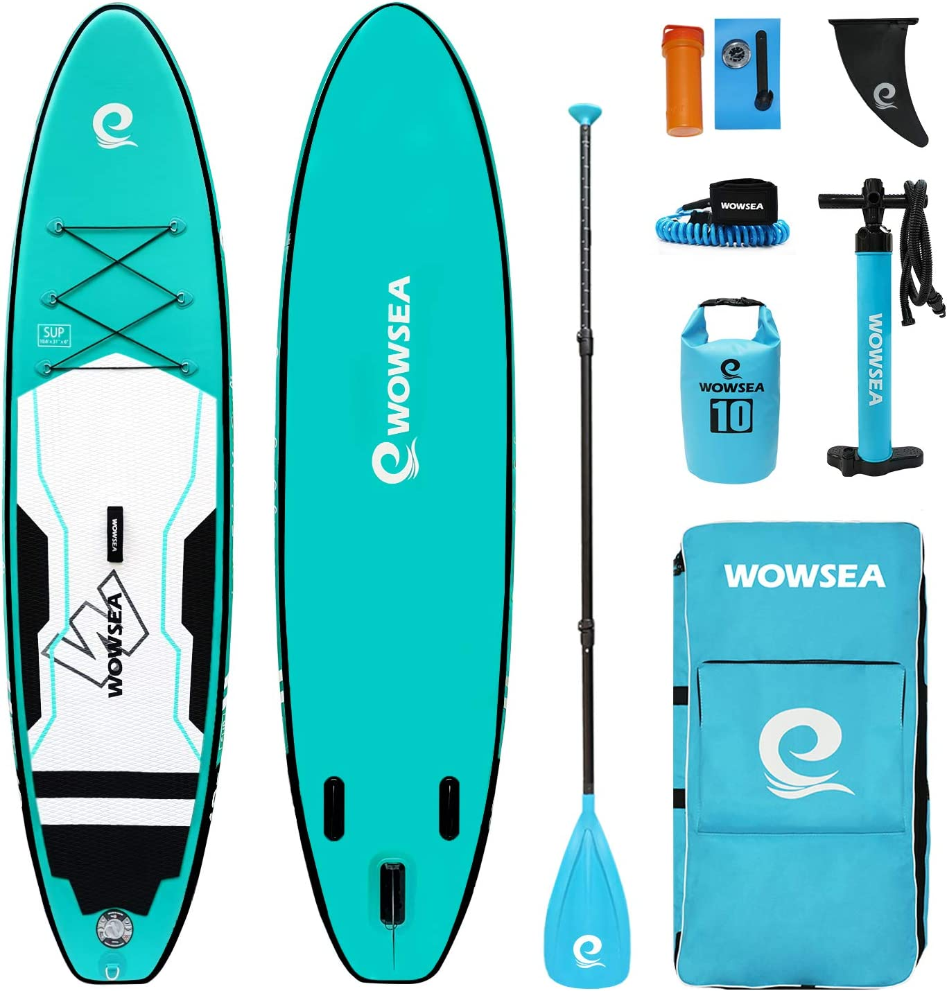 "WOWSEA All-Around Paddle Board | 10.6' Long x 31"" Wide x 6"" Thick 