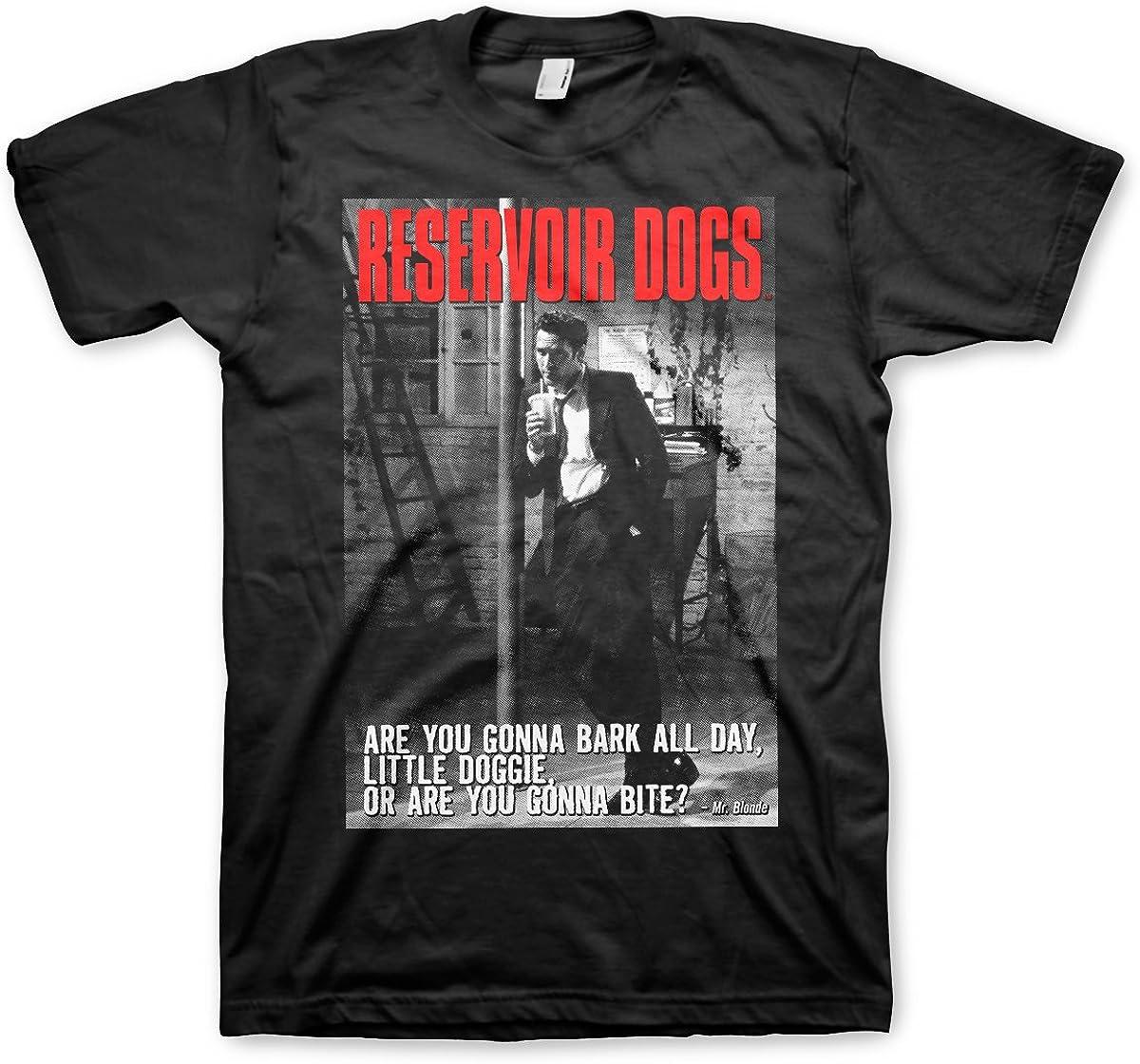 Reservoir Dogs Oficialmente Licenciado Are You Gonna Bite Hombre Camiseta (Negro)