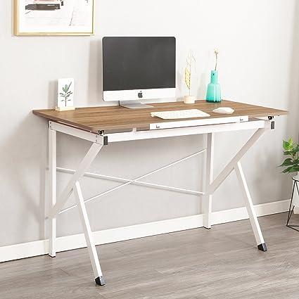 Ordinaire Soges 47u0026quot; Adjustable Computer Desk, Drawing Desk Sketch Art Desk,  Adjustable Drafting Table