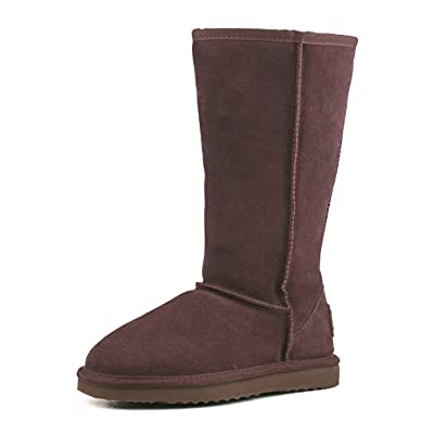 AUSLAND Women's Classic Leather Tall Snow Boot   Boots
