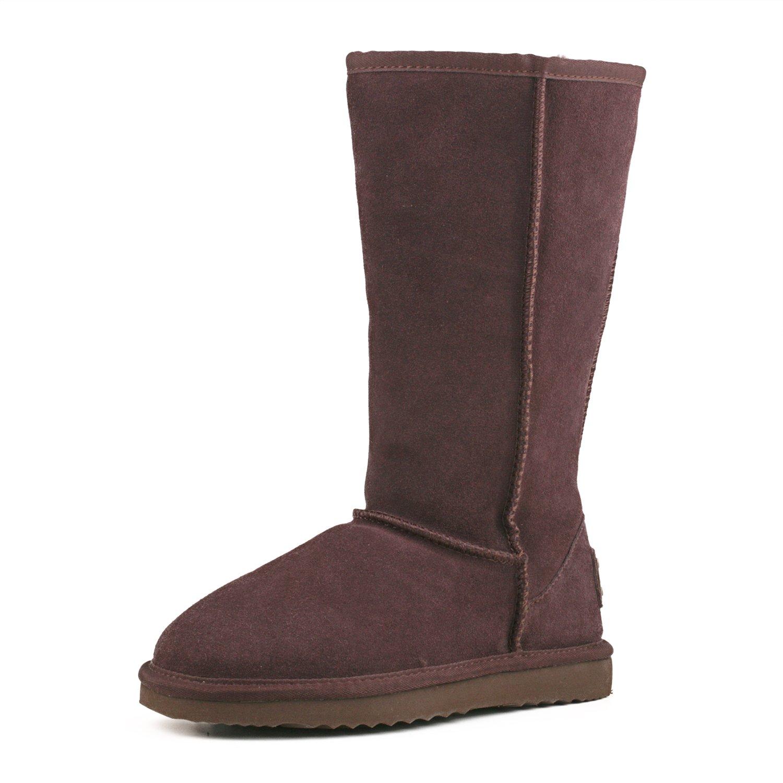 (オスランド)Ausland レディース ブーツ クラシック  スノーブーツ ムートンブーツ ロングブーツ 牛革 B00N3OKGSQ 25.0 cm チョコレート チョコレート 25.0 cm