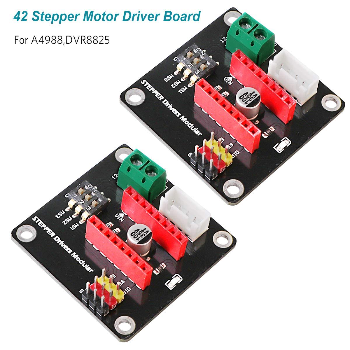 Innovateking-EU 2pcs 3D Printer 42 Stepper Motor Driver Control Expansion Board Shield Module DRV8825 / A4988 for Arduino UNO R3 DIY Kit