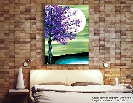 Pintura Para Salas De Estar : Tamatina lienzo pintura luna pinturas para sala de estar