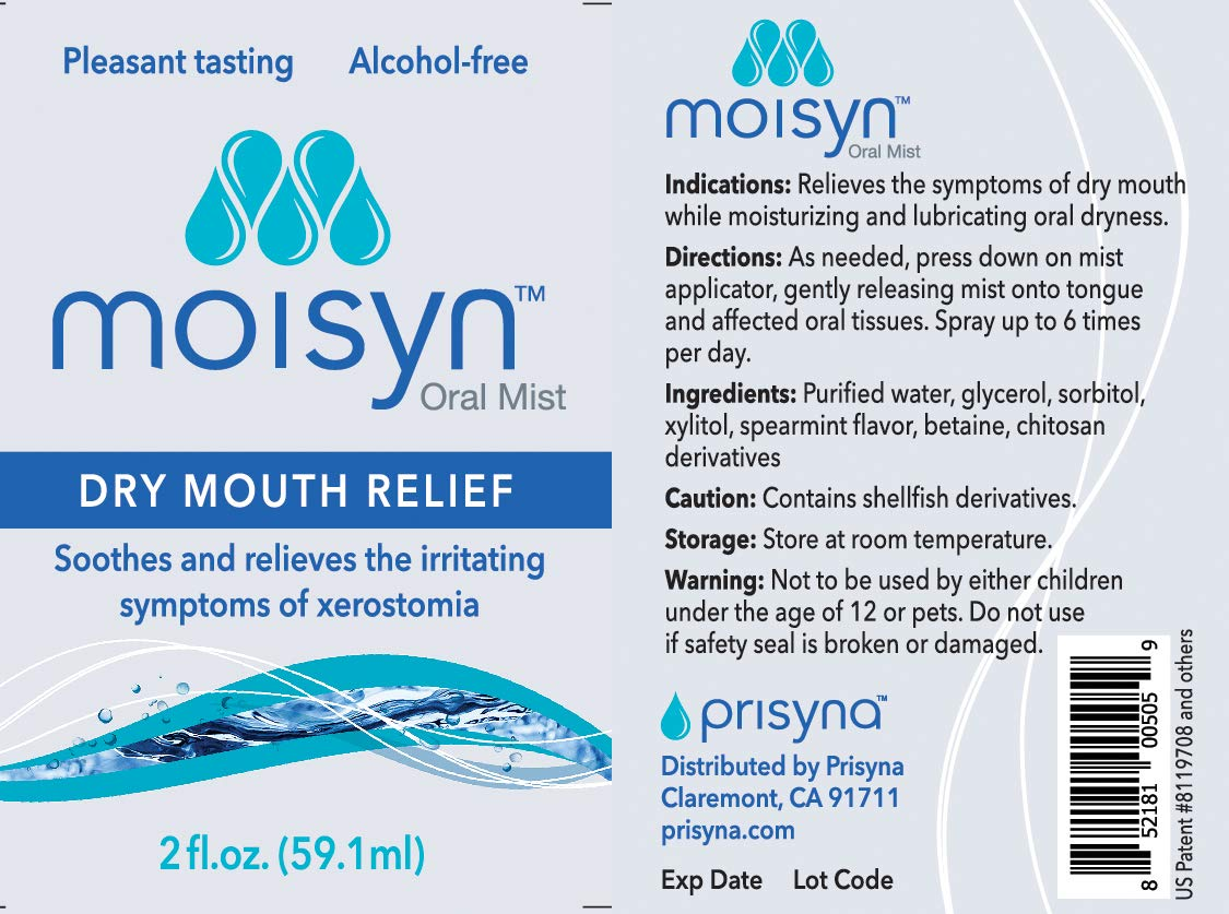 MOISYN Advanced Dry Mouth Relief Oral Spray (2 oz, 12 Pack) Moisturize & Soothe Dry, Irritated Oral Surfaces with Nontoxic, Naturally Derived Ingredients - Alcohol-Free Formula With Xylitol (12 Pack) by Moisyn (Image #2)