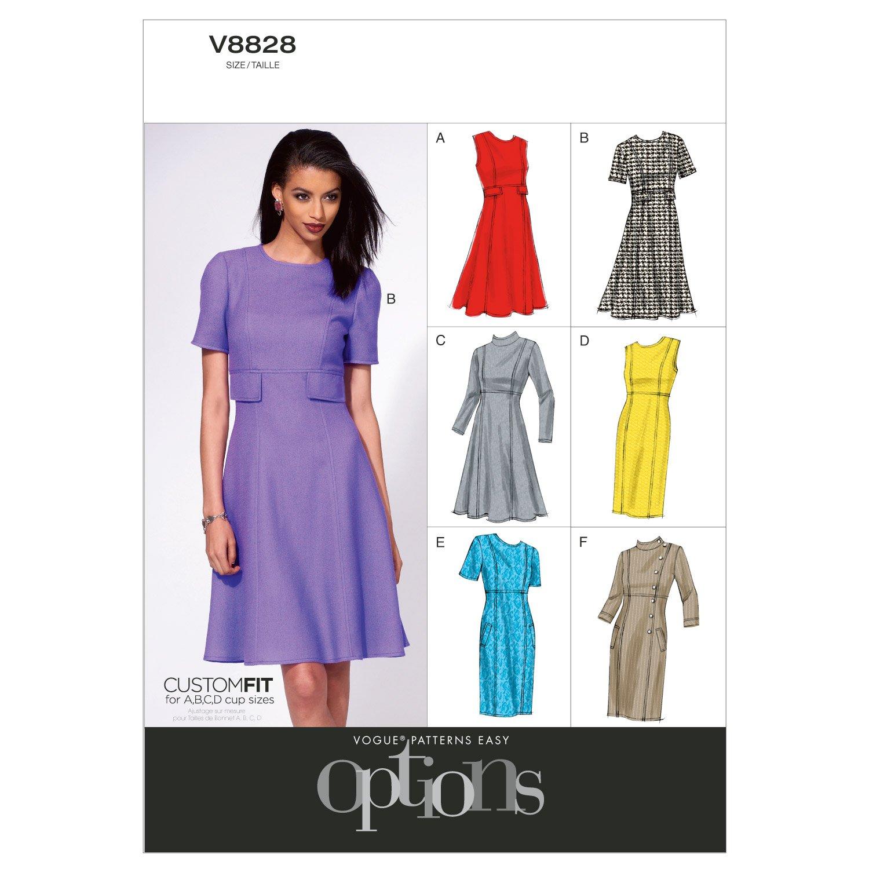 Vogue Patterns V8828 - Patrones de costura para vestidos de mujer ...