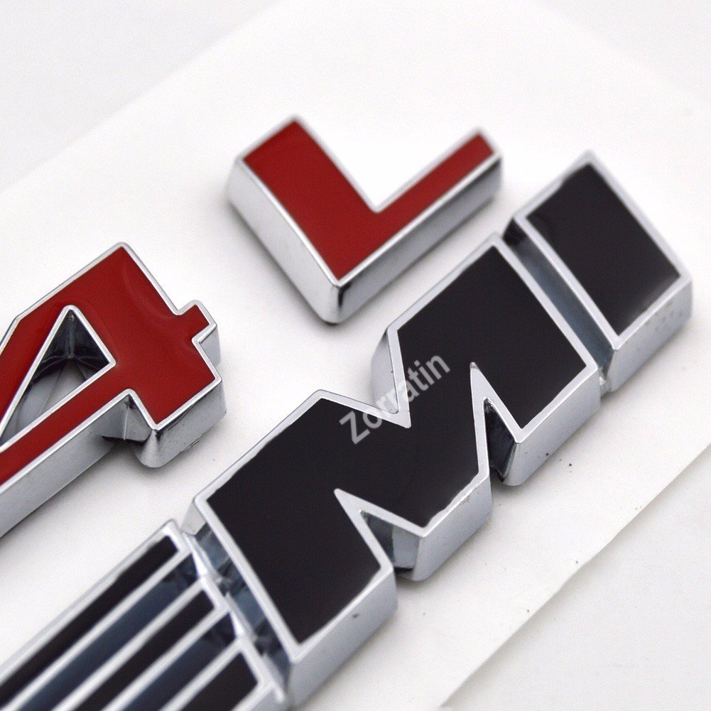 zorratin Black 6.4 L HEMI Emblem Badge Plate Decal with Sticker for Dodge Challenger SRT 6.4L SRT8 Jeep