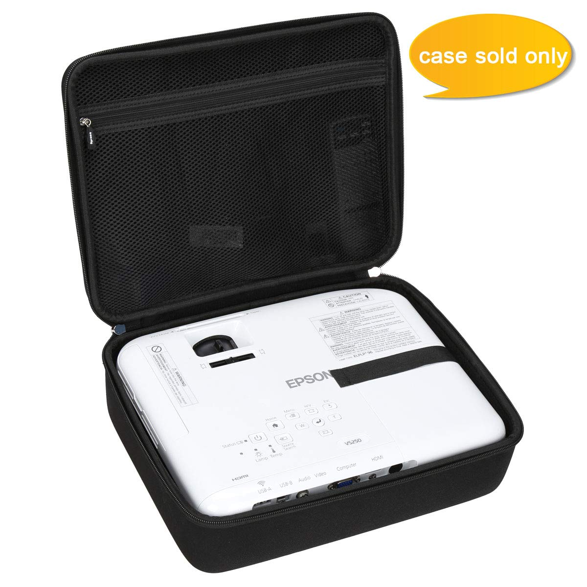 Aproca Hard Travel Storage Carrying Case Bag Fit Epson VS250 / VS240 SVGA 3LCD Projector by Aproca