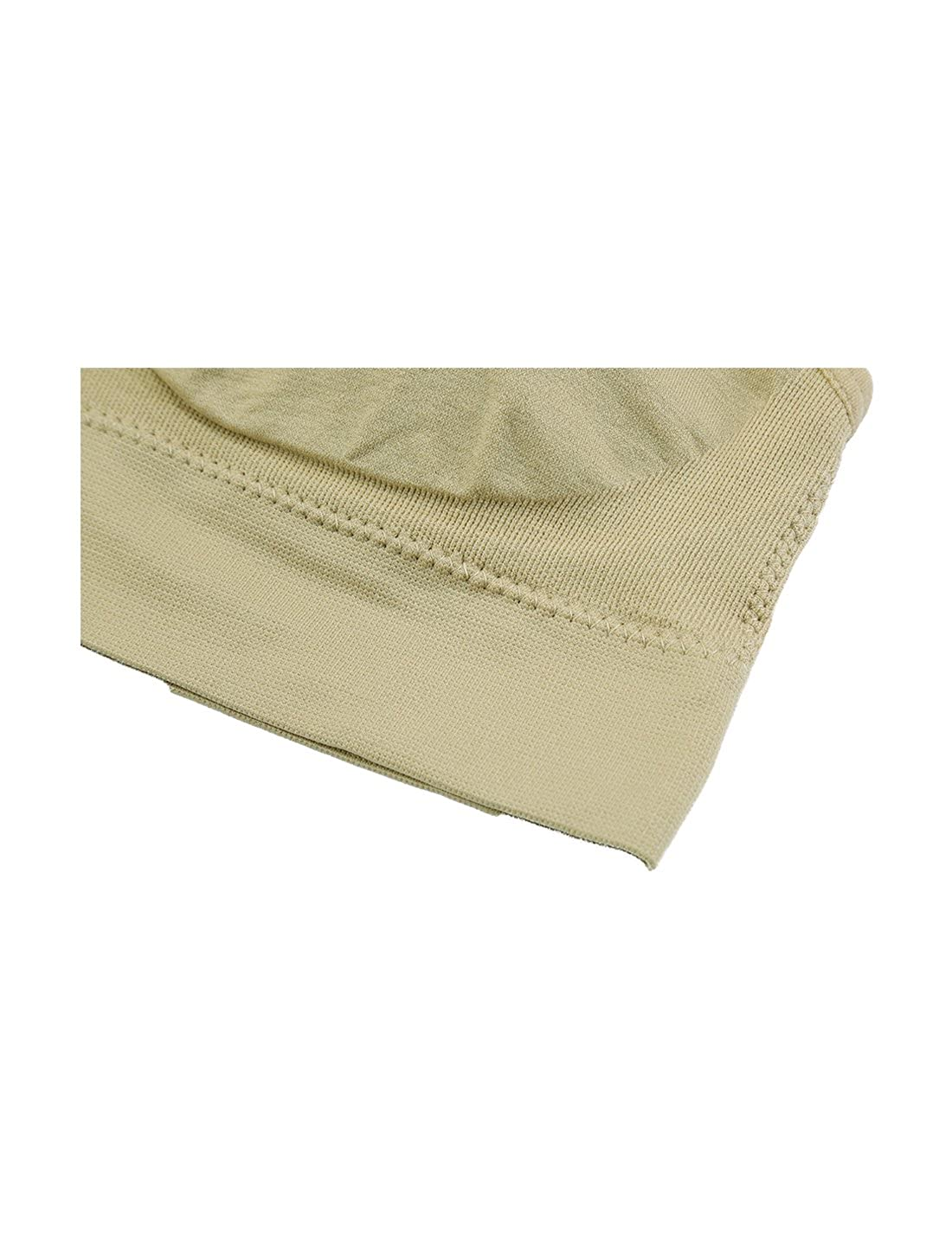 uxcell Women Seamless Middle Impact Pocket Pullover Sport Bra XXL fit 36A//B Black+Beige