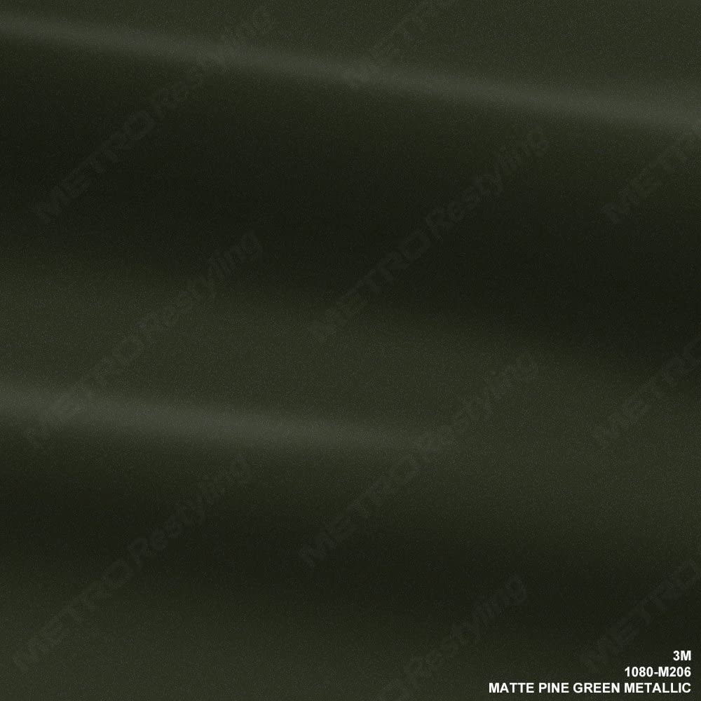 3M 1080 M206 MATTE PINE GREEN METALLIC 5ft x 1ft (5 Sq/ft) Car Wrap Vinyl Film