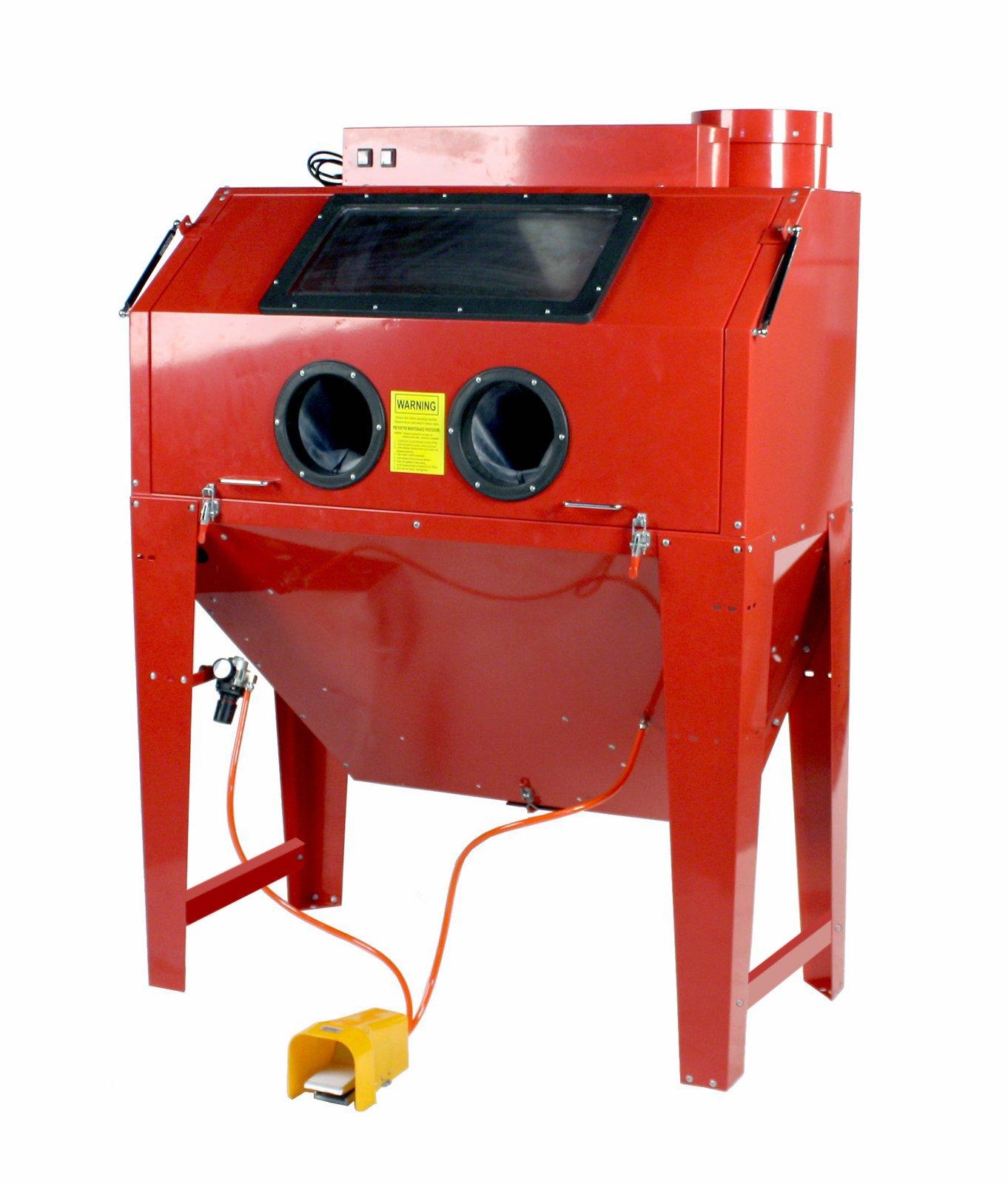 Dragway Tools Model 110 Sandblast Sandblasting Cabinet & Built In Dust Collector