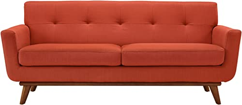 Modway Engage Mid-Century Modern Upholstered Fabric Loveseat - the best living room sofa for the money